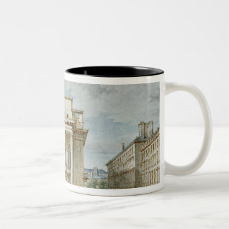 View of the Facade of the Theatre Italien Two-Tone Coffee Mug