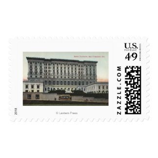 View of the Fairmont Hotel Stamp