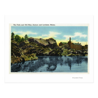 View of the Falls and Old Man Postcard