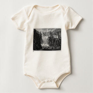 View of the Falls of Tivoli by Giovanni Battista Baby Bodysuit