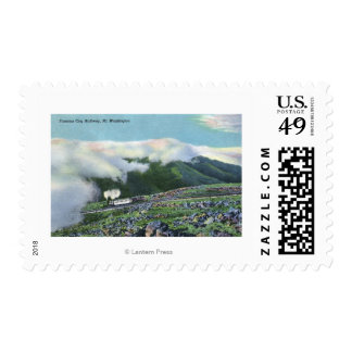 View of the Famous Cog Railway Stamp
