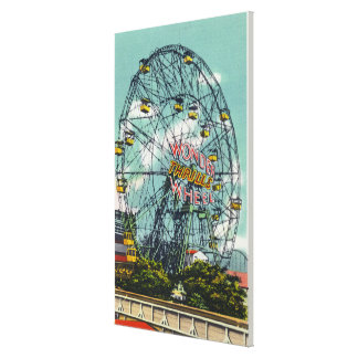 View of the Famous Wonder Ferris Wheel Stretched Canvas Print