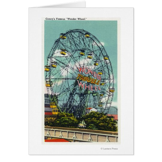 View of the Famous Wonder Ferris Wheel Card