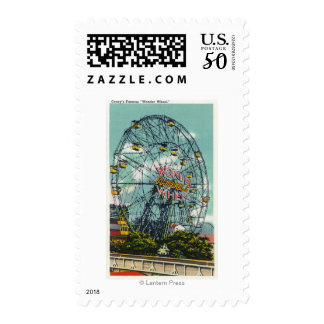 View of the Famous Wonder Ferris Wheel Postage
