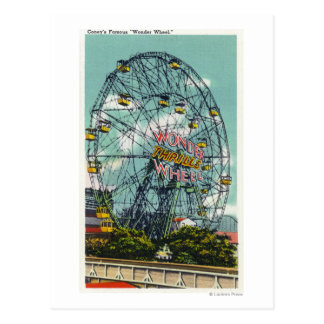 View of the Famous Wonder Ferris Wheel Postcard