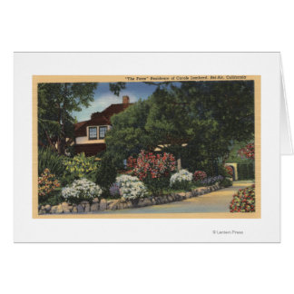 "View of ""the Farm,"" Carole Lombard's House Card"
