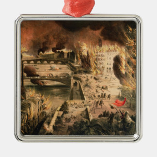 View of the Fires in Paris during the Commune Metal Ornament