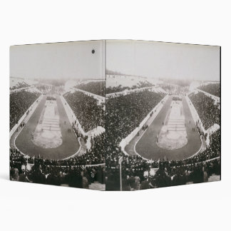 View of the first official Olympic Games in Athens 3 Ring Binder