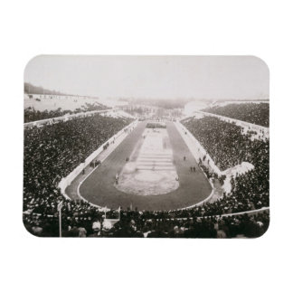 View of the first official Olympic Games in Athens Rectangle Magnet