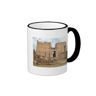View of the first pylon of the Temple of Horus Coffee Mug