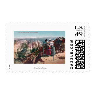 View of the Fissures and Yosemite Valley Postage