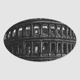 View of the Flavian Amphitheatre Oval Sticker