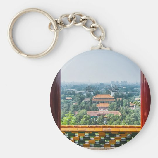 View of the Forbidden City from Jing Shan Keychain