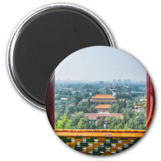 View of the Forbidden City from Jing Shan Magnet