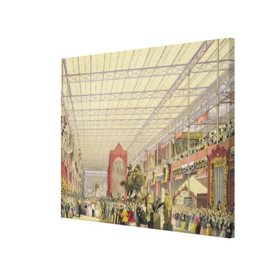 View of the Foreign Nave of the Great Exhibition o Canvas Print
