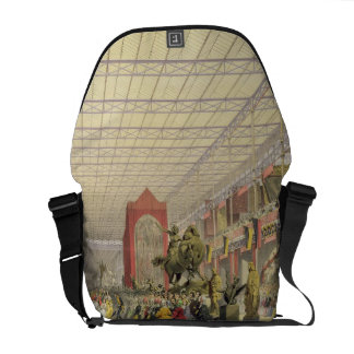 View of the Foreign Nave of the Great Exhibition o Courier Bag