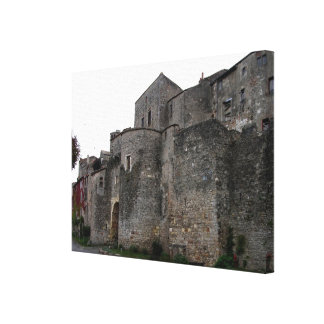 View of the fortified village (photo) 2 canvas print