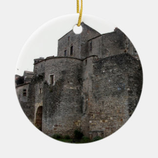 View of the fortified village (photo) 2 ceramic ornament