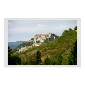 View of the fortified village (photo) 2 poster