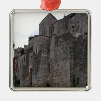 View of the fortified village (photo) 3 metal ornament