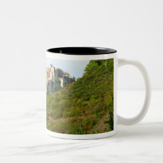 View of the fortified village (photo) coffee mug