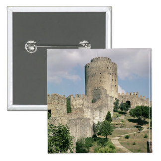 View of the Fortress, started in 1452 2 Inch Square Button