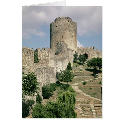 View of the Fortress, started in 1452 Greeting Card