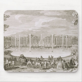 View of the Fountain of Neptune, Versailles (engra Mouse Pad