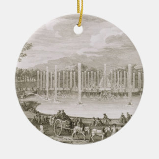 View of the Fountain of Neptune, Versailles (engra Ornament