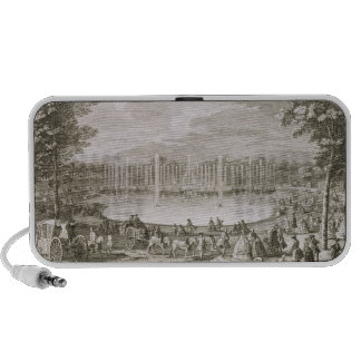 View of the Fountain of Neptune, Versailles (engra Portable Speaker