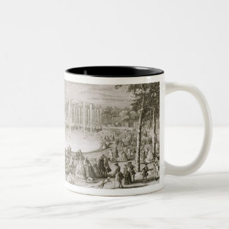 View of the Fountain of Neptune, Versailles (engra Two-Tone Coffee Mug