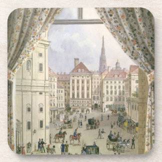 View of the Freyung, Vienna, 1825 (gouache on pape Drink Coaster