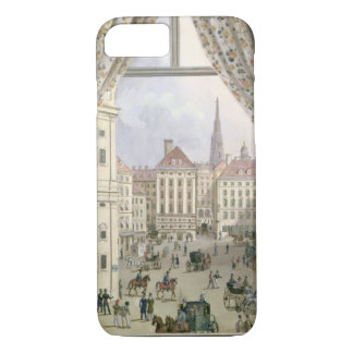 View of the Freyung, Vienna, 1825 (gouache on pape iPhone 8/7 Case