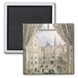 View of the Freyung, Vienna, 1825 (gouache on pape Magnet