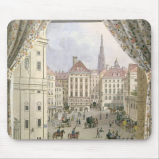 View of the Freyung, Vienna, 1825 (gouache on pape Mouse Pad