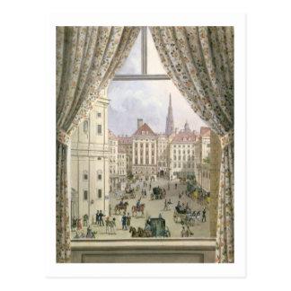 View of the Freyung, Vienna, 1825 (gouache on pape Postcard