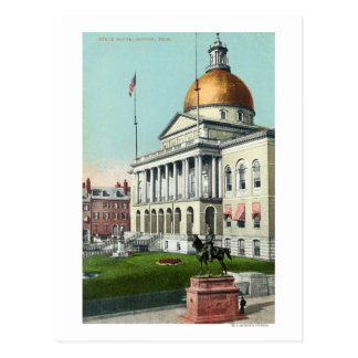 View of the Front Lawn of the State House Postcard