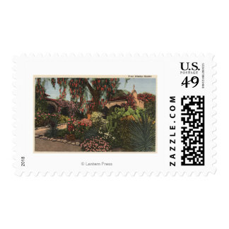View of the Front Mission Garden Postage Stamp