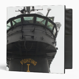 View of the front section of the superstructure vinyl binder
