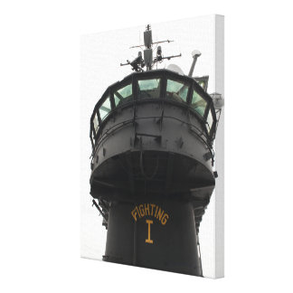 View of the front section of the superstructure canvas print