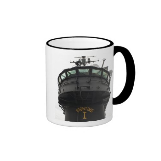 View of the front section of the superstructure ringer coffee mug