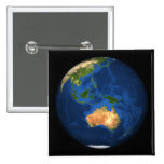 View of the full Earth showing Indonesia, Ocean 2 Inch Square Button