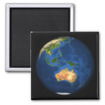 View of the full Earth showing Indonesia, Ocean 2 Inch Square Magnet