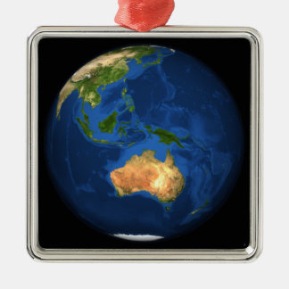 View of the full Earth showing Indonesia, Ocean Metal Ornament