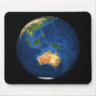 View of the full Earth showing Indonesia, Ocean Mouse Pad