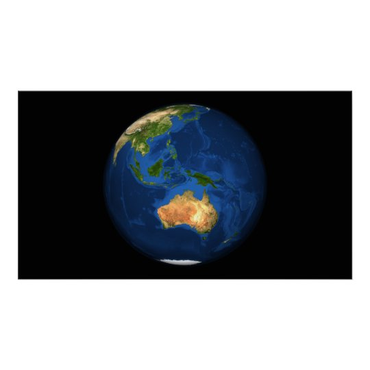 View of the full Earth showing Indonesia, Ocean Poster