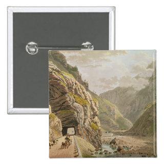 View of the Galerie d'Algaby near Valais Border Pinback Button