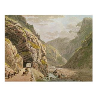 View of the Galerie d'Algaby near Valais Border Postcard