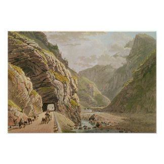 View of the Galerie d'Algaby near Valais Border Poster