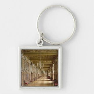 View of the Galerie Francois I, 1528-40 Silver-Colored Square Keychain